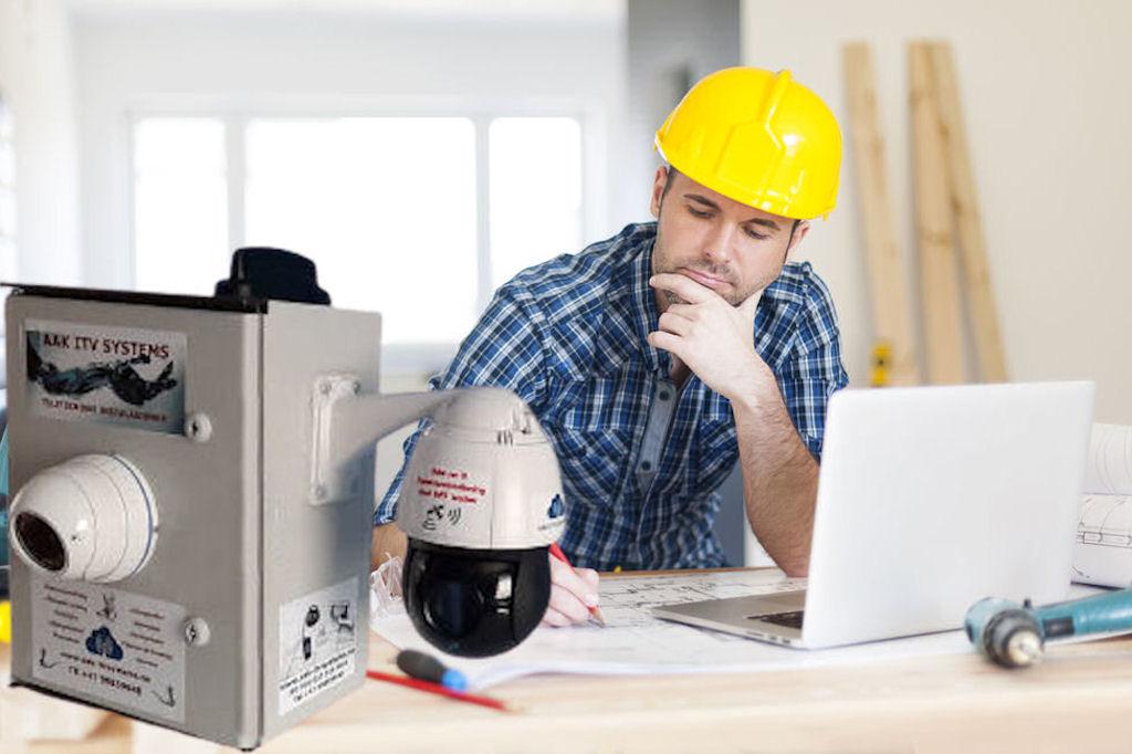 Kameraovervåking på byggeplass